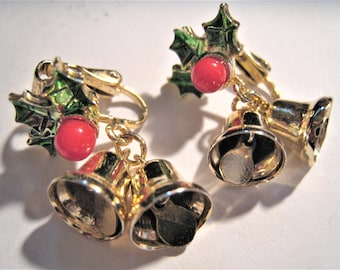 Christmas Bell Clip Earrings
