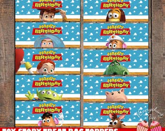 Toy Story Woody Theme Treat Bag Toppers Instant Download