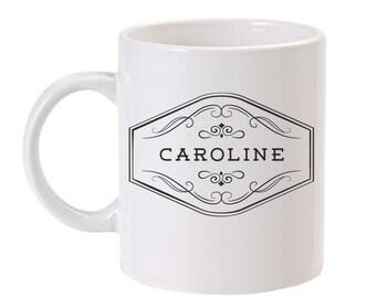 Personalized Coffee Mug | Personalized Mug | Custom Coffee Mug | Monogram Coffee Mug