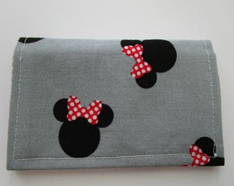 Disney Wallet, Minimalist Wallet, Business Card Holder, Minnie Mouse, Card Wallet, Small Wallet, Travel Wallet, Disney Cruise, Fabric Wallet