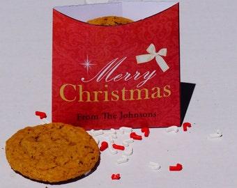 Cookie Sleeve, Christmas Cookie exchange party package, Christmas cookie bags, cookie bags, Christmas Cookie Sleeves.  Set of 25