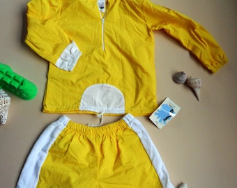 Clearance--wind breaker with shorts for children-size: 12mos,18mos,24mos/2T,4T,5,6,7  The size runs small, please order 2 size up!