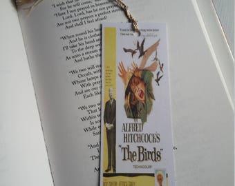 The Birds movie handmade bookmark
