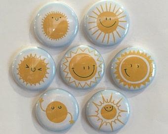 Sunshine Magnets - set of 7