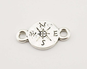 10pcs 16x9mm Compass Charm Jewelry Pendant Accessories QH