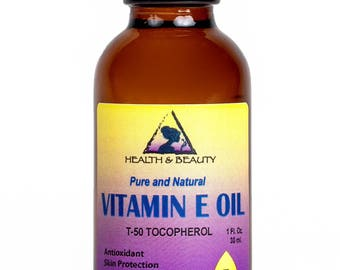 1 oz TOCOPHEROL T-50 VITAMIN E OIL Anti Aging Natural Premium Pure in Glass Bottle