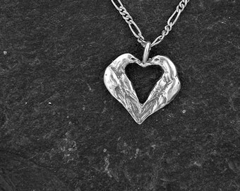 Sterling Silver  Lovebird Heart Pendant on a Sterling Silver Chain.
