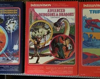 VIntage intellivision jeux 12 cartouches