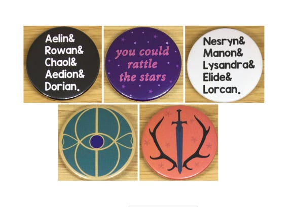 Throne Of Glass Inspired 38mm Badges & Magnets by Etsy