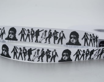 Michael Jackson Musician Inspired Grosgrain Ribbons 7/8""