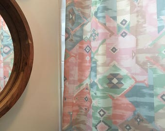 Vintage Boho southwestern pattern shower curtain.