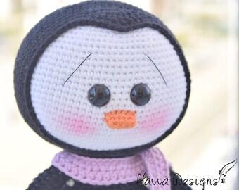Crochet Pattern - Cute Penguin (Amigurumi Toy Pattern)