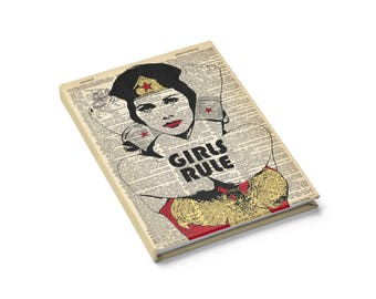 Wunder, dass Frau Notebook Mädchen Regel Journal, inspirierende Geschenke für sie, Frage mich, Frau Wörterbuch Kunstdruck, Frauen Gästebuch Blank Book