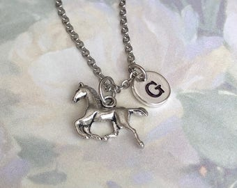 Horse Necklace ~ Galloping Horse ~ Pony Gift ~ Horse Lover Gift ~ Cowgirl Necklace ~ Horseback Riding ~ Equestrian Gift ~ Personalized Gift