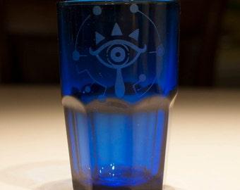 The Legend of Zelda Sheikah Eye Soda / Juice Faceted Glass Tumbler