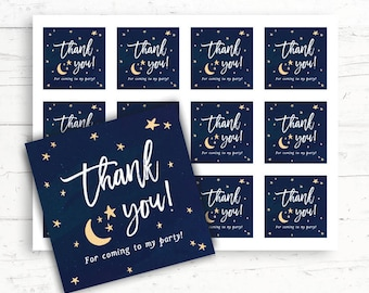 Twinkle Twinkle Little Star Baby/Bridal Shower Printable Favor Tags, Printable Thank You Tags, Digital Download