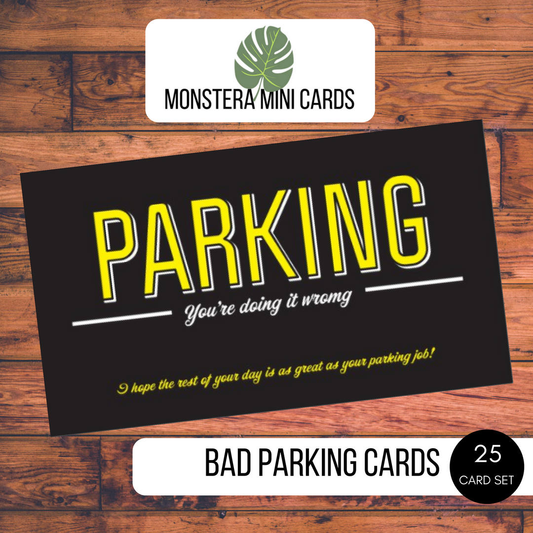 Bad Parking Cards Stocking Stuffer Funny Business Cards.