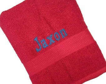 personalized custom embroidered towel