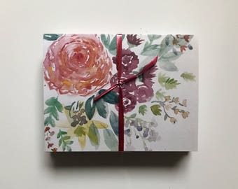 floral watercolor cards! (Blank inside)