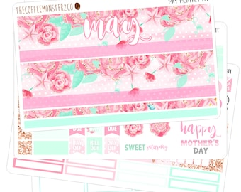 May Monthly Kit ( erin condren planner stickers )