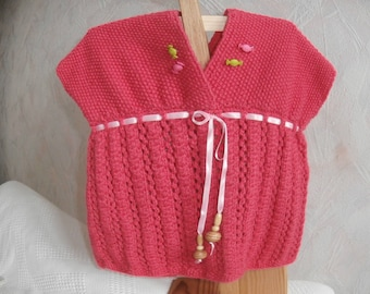 Tunic 4t dark girl pink