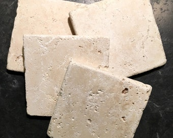 Unsealed Natural Stone Coasters ~ Stone Tile Coasters ~ Drink Coasters