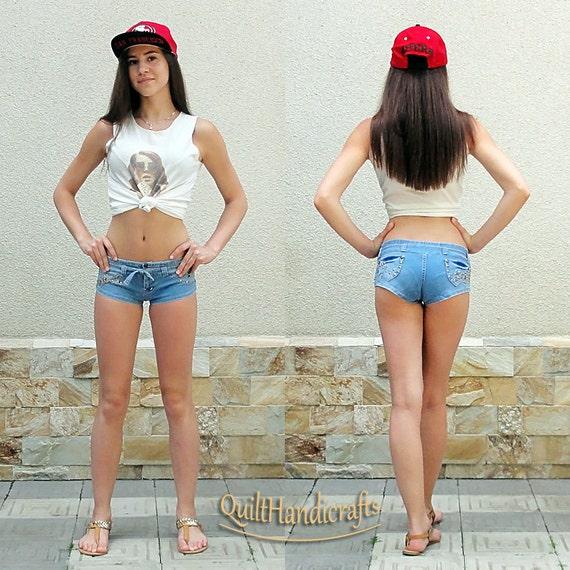 beach denim shorts for women