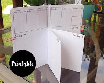 B6 Slim, Dutch Door, April, 2018, Calendar, TN Insert, Traveler's Notebook insert, weekly, daily, Printable
