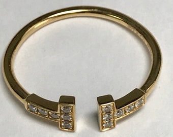 Tiffany & Co T Wire With Diamonds Ring