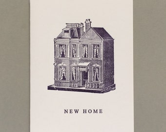 New Home. Letterpress Card. Historical print. Archives. History. Unlock History.