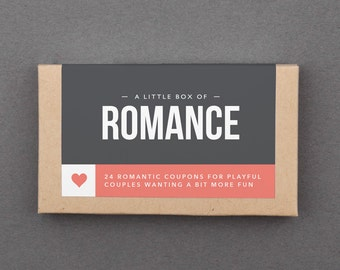 "Anniversary Gift for Girlfriend, Wife, Boyfriend, Husband, Her, Him, Man, Woman. Romantic Cards. Fun, Funny Gift. ""Romance Coupons"" (L2ROM)"