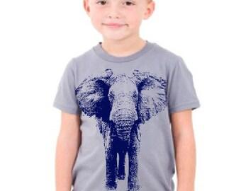 Wild ELEPHANT T Shirt - Graphic Art Tees - Kids Tshirt Kids Clothing Children Grandson Granddaughter Boy Girl Birthday Circus Zoo Outfit