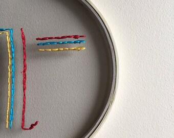 modern embroidery hoop art
