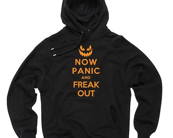 Halloween Sweater not panic and freak out Sweater Hoodie Sweatshirt Halloween Costume Tee Shirt