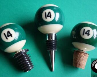 Number 14 Pool/Billiard Ball Wine Bottle Stopper