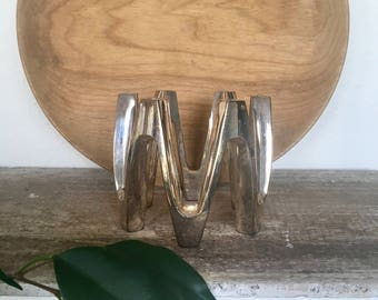 Vintage Mid Century Dansk Silverplate Crown Candleholder designed by Jens Quistgaard c1960s  Japan