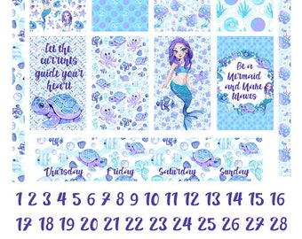 Make Waves Happy Planner Weekly Kit Printable Planner Stickers