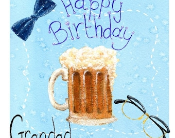 Happy Birthday Card - Handmade (Any Name Can Be Added)