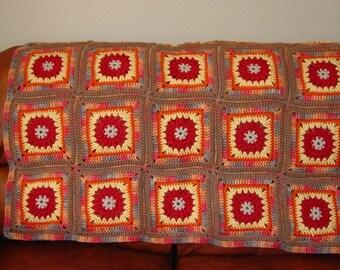 Desert Sunset Afghan Instant Download PDF Crochet Pattern