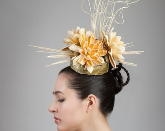 Ascot Opening Day Derby Hat - Avant Garde Hat - Asain Inspired Headpiece
