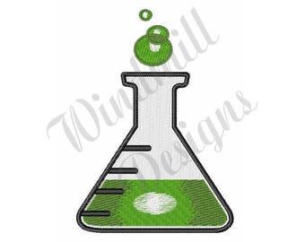 Science Beaker - Machine Embroidery Design