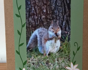Thank You card, squirrel