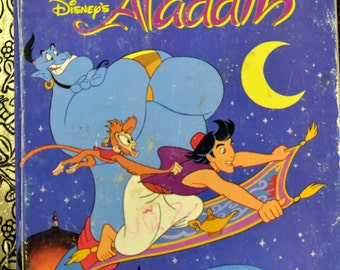 "Vintage Children's Book ""Disney's Aladdin"" Reading for Children 5 for 10 Bucks"