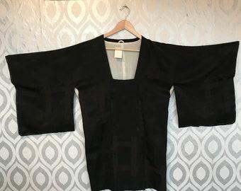 Vintage silk black kimono