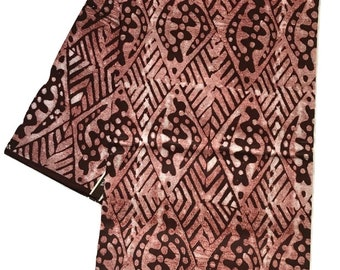 Batik African Print Fabric - Cotton Light Weight Fabric - By the yard - Clothing Fabric  (b2)
