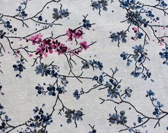 Ground floral jacquard fabric