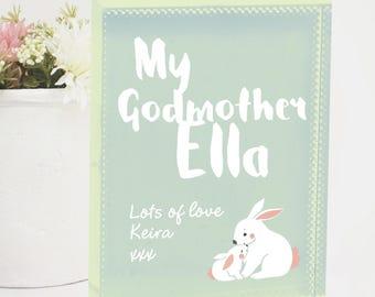 Gift for godchild etsy godmother personalised crystal keepsake gift from godchild negle Images