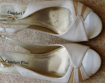 Comfort Plus  Cream / Beige wider fit Slingbacks size 4 uk