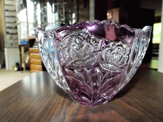 Vintage Crystal Vase Crystal Bowl Lead Crystal Cut