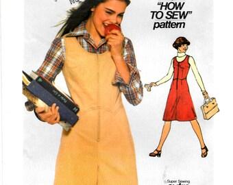 Teen/Jr Vintage  Simplicity Sewing Pattern 8132, Denim Culotte Jumper, Corduroy Jumper, Size  11/12 **Free Shipping**